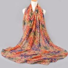 Women Scarf Cotton Voile Scarves Printed Warm Autumn and Winter Neck Scarf Shawl
