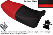 RED & BLACK CUSTOM FITS HONDA VF 750 F 83-84 DUAL LEATHER SEAT COVER