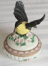 "Vintage Heritage House Sing A Song Music Box Bird ""Fur Elise"" Trinket"