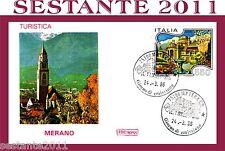 ITALIA FDC ROMA, ITALIA TURISTICA MERANO 1986,  ANNULLO MATERA, D63