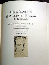 Les Medailles d'Antonio Pisano 1914 VERY RARE Medals PISANELLO Complete ILLUS.