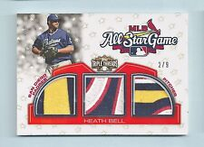 HEATH BELL 2010 TOPPS TRIPLE THREADS ALL-STAR GAME 12 COLOR PATCH /9