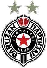 "FK Partizan FC Serbia Football Soccer Car Bumper Sticker Decal 4""X5"""