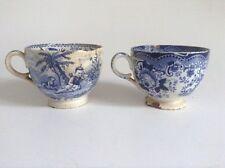 Joli 2 anciennes tasses en faïence décor japonisant