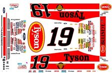 #19 Chad Little Tysons Ford Thunderbird 1/64th HO Scale Slot Car Decals