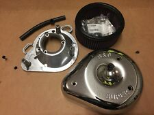 S&S Teardrop Air Cleaner Kit For Super E & G Carburetors For Harley-Davidson