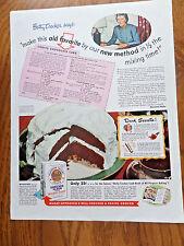 1946 Gold Medal Flour Ad Betty Crocker Chocolate Cake