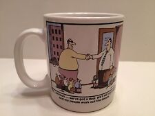 "The Far Side Coffee Mug ""OK JOHNSON - WE GOT A DEAL"" 1990 Cartoon Gary Larson"