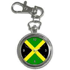 JAMAICA JAMAICAN FLAG KEYCHAIN WATCH **FANTASTIC ITEM**