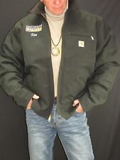 Carhartt NEW Black Sandstone Detroit Jacket Blanket Lined Blackhawk!Men's 48T M6