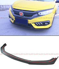 FOR 2016-18 10TH GEN HONDA CIVIC X FC JDM CTR FRONT BUMPER LIP SPOILER SPLITTER