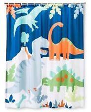 Circo Dino Fabric Shower Curtain Kids New Dinosaur Green Blue Boys New Nwt