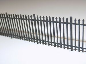 6ft wrought iron fencing (1.5 metres) 00 scale 1:76 model railway security fence