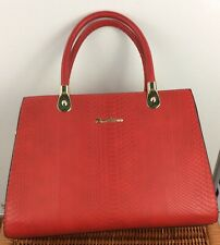 Tom & Eva Womens Bag  Red Jet Set Travel Hand Bag 14 X 9 Inches