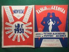 (D49) SPARTITO MUSICALE TANGO DELLA GELOSIA mascheroni (1930) ill. Bonfanti