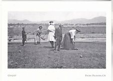 """*Postcard-""""Playing Croquet""""/on Yards of Adelaide Dr.*Pacific Palisades Ca (#211)"""
