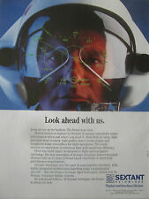 1/1991 PUB SEXTANT AVIONIQUE HELMET MOUNTED DISPLAY TIGRE HELICOPTER ORIGINAL AD