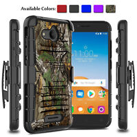 For Alcatel Tetra 6753B 5041C Shockproof Phone Case With Kickstand Clip Holster