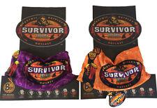 TWO (2) SURVIVOR PANAMA BUFFS:  Orange LaMina Buff + Purple Casaya Buff Set -NEW