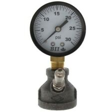 Gas Test Manifold Coupling w/ Pressure Gauge & Snifter Valve (0-30 PSI)