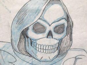MOTU Skeletor 2 Lost Commercial Key Drawings! Animation Cel Art Filmation He-Man