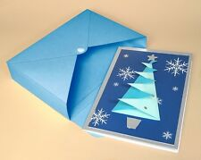 A4 Card Making Template - 3D Xmas Tree Card.