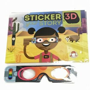 Wendy's 2019 Sticker Your Story 3D Desert Dawn Kids Meal Toy New