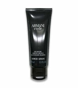 Armani CODE All Over Body Hair Shampoo Fresh Active Shower Gel For Men 2.5 oz/75