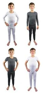 Kids Thermal Underwear Two Piece Long Sleeve Short Sleeve Base Layer 2 -13 Years