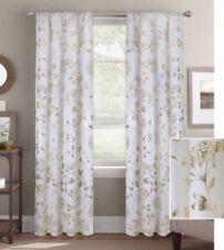 "NEW Better Homes & Gardens Willdflowers Gold Metallic Window (1) Panel 52""WX95""L"