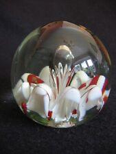 Vintage Vidrio Cristal Claro snowdrops & Burbuja ovoide Pisapapeles I De W? ex