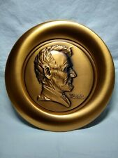 """New ListingNorman Rockwell's Abraham Lincoln Collector 8"""" Plate #385/ 9500 Certified copper"""