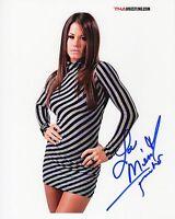 TNA SIGNED PHOTO BROOKE ADAMS MISS TESSMACHER WRESTLING PROOF WWE ECW