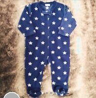 NEXT baby Boy Fleece Star Bodysuit. Babygro. Pyjamas. 6-9 Months.