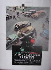 PLANCHE COULEUR ILLUSTRATION 1939 PUBLICITE VIVA GRAND SPORT RENAULT