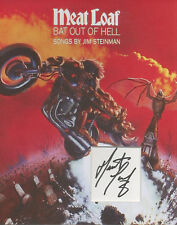 MEATLOAF Signed 12x8 Photo Display BAT OUT OF HELL COA