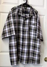 Lowrider Check Plaid Button Down Shirt Short Sleeve Men's XXL (39) 2XL