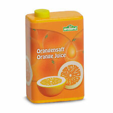 Wooden pretend role play food (Erzi) play kitchen, shop: Orange Juice Carton