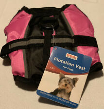 Flotation vest for dog NWT size XX-small Hot Pink And Black For Small Dogs