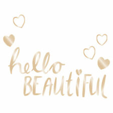 Lambs & Ivy Hello Beautiful Gold Wall Decals Removable Stickers