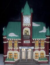 """""""City Hall"""" Dept 56 Heritage Village Christmas in the City Series"""