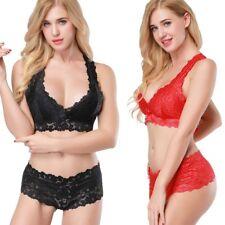 Women Bras Underwear Stretch Lace Balcony Bra and Panties Lingerie Set Knicker