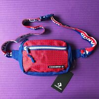 NEW Mens Converse All Star Crossbody Waist Belt Bag Red/Blue Logo Zip Pocket NWT