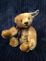 """Vintage Steiff 7.5"""" Original Teddy Bear Mohair 0156/18 1984"""