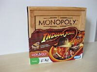 Monopoly Indiana Jones Board Game Collectors Limited Edition Rare Wooden Crate