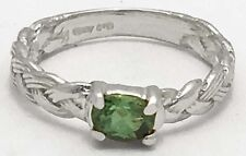 GENUINE 0.45 Carats ALEXANDRITE Rope Style RING 14k White Gold *FREE APPRAISAL
