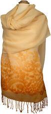 Wollschal Lavender Lurex Glitzer bestickt scarf stole embroidered Apricot
