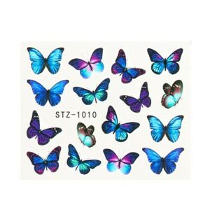 1 Sheet Water Nail Stickers Butterfly Nail Art Water Transfer Decals Tattoo