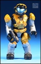 HALO MEGA BLOKS GOLD UNSC SPARTAN AIR ASSAULT W/ MAGNUM GUN MINI FIGURE