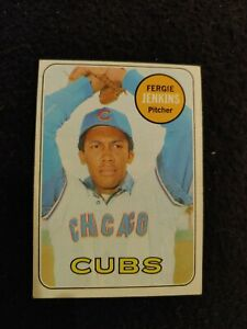 1969 Topps Fergie Jenkins baseball card #640 Chicago Cubs EX